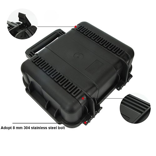 Safety Instrument Tool Box Protective Waterproof Shockproof Toolbox Sealed Tool Case Impact Resistant Suitcase With Sponge