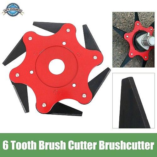 6 Teeth Brush Cutter Blade Trimmer Metal Blades Trimmer Head 65Mn Garden Grass Trimmer Head For Lawn Mower