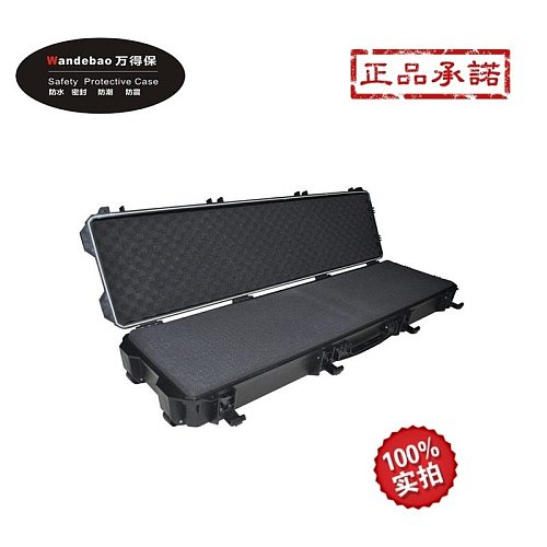 long Tool case toolbox gun case suitcase Impact resistant sealed waterproof safety long gun case camera case with pet-cut foam