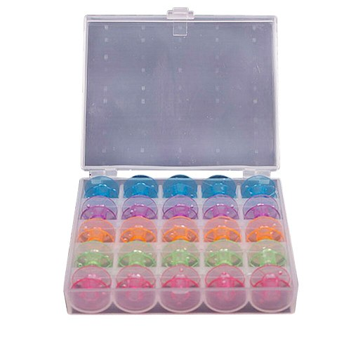 25Pcs/Set Empty Bobbins Sewing Machine Spools Colorful Plastic Case Storage Box for Sewing Machine Sewing Tools & Accessory new