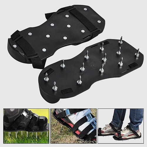 1Pair Gardening Walking Revitalizing Grass Sticks Lawn Aerator  Shoes Nail Shoes Tool Cultivator Yard Garden Tools For House