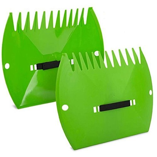 HOT Garden-Yard Leaf Scoops,Plastic Scoop Grass,Hand Leaf Rakes and Leaf Collector for Garden Rubbish Great Tool Set of 2