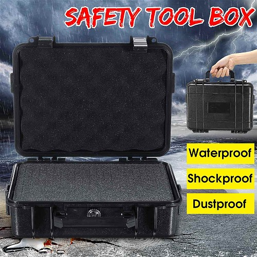 Outdoor Shockproof Sealed Waterproof Safety Case ABS Plastic Tool Box Dry Box Safety Equipment Tool Case Storage Toolbox
