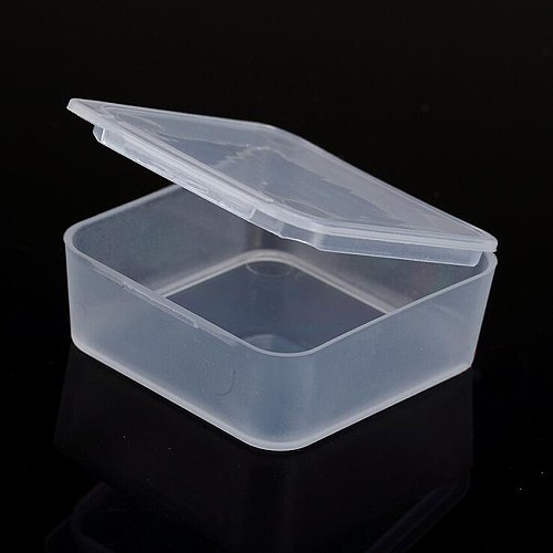 1PC New rectangle Portable Jewelry Tool Box Container Ring Electronic Parts Screw Beads Component Storage Box