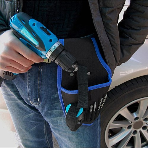 Newly Portable Tools Waist Bag Cordless Drills Holder Storage Pouch for 12V Electric Drill Tool TE889