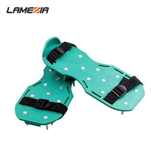 LAMEZIA 4.2cm Green Nail Shoes Apply To Garden Grass Pine Soil Foot-operated Ripper Professional Loosening Tool