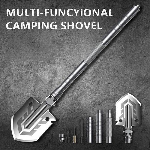 Outdoor Multi-purpose Shovel Garden Tools Folding Military Shovel Camping Defense Security Tools