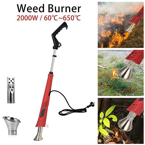 Electric Weed Burner Environmental Protection Temperature Optional 2000W Garden Accessories Weeder 60C 650C Weed Burner Dropship
