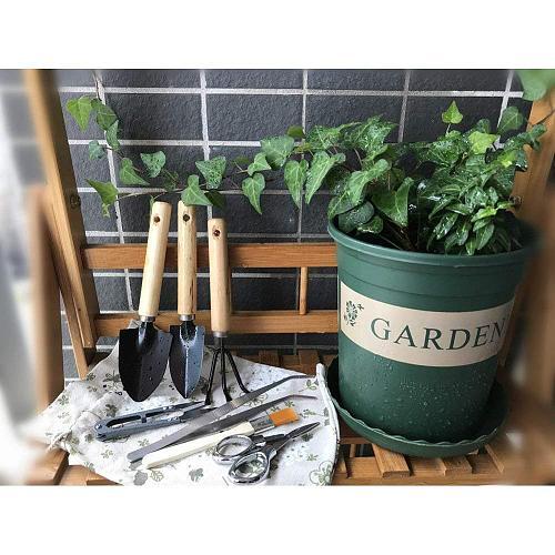 7pcs DIY Mini Gardening Tools Mini Garden Scissors Shovels Claw Hand Tools Bonsai Set Kit Garden Tools