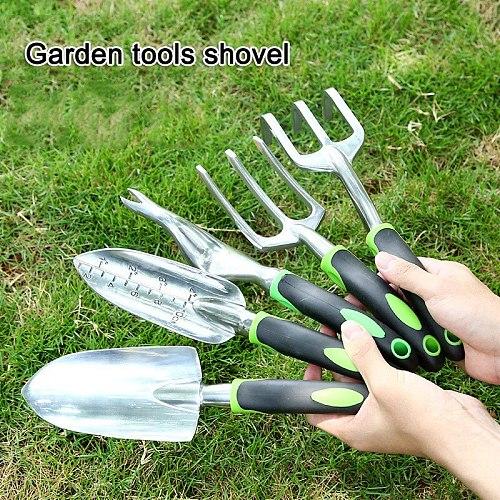 Hand Weeding Tools Alluminum Alloy Fork Shovel Rake Weeder Transplanting Digging Tools Garden Planting Tools FP8
