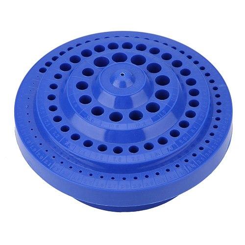 1-13mm Round Shape Hard Plastic Drill Bit Organizer Storage Case Stand 100pcs Hole wholesale