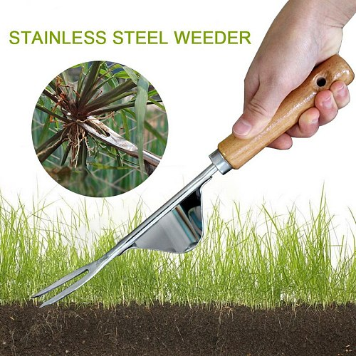 Manual Weeding Tool Garden Hand Weeder with Wood Handle Hand weeding tool Manual Farmland Digging Lawn