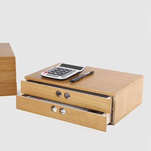 free shipping A4 Wooden desk storage drawer debris cosmetic storage box jewelry retro style office Creative gift Home supply
