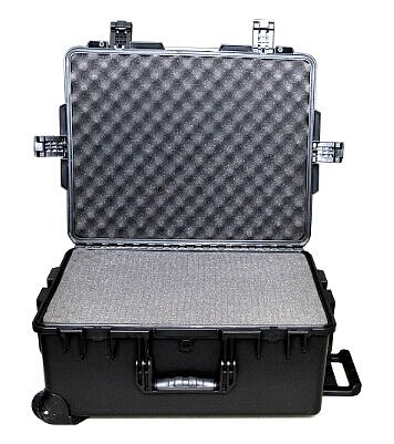 large size 741*461*269mm  wheeled waterproof plastic shipping case with pick pluck foam