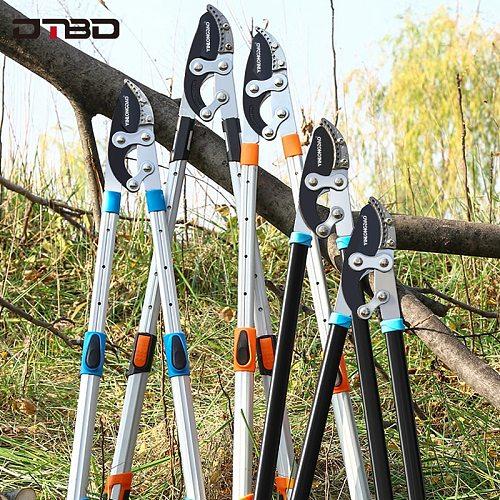 DTBD Garden Tree Pruning Shears High Branch Pruning Tool  Long Reach Aluminium Handle Fruit Knife Picker Pruner Garden Tools