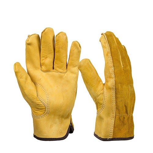 1 Pair Heavy Duty Garden Gloves Leather Gloves Quick Easy to Dig and Plant For Digging Planting M/L/XL Gardening Gloves