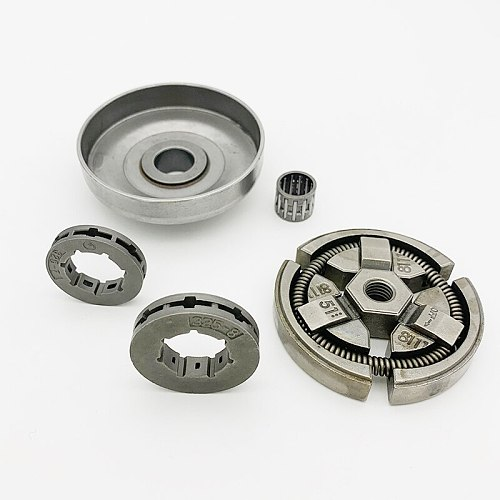 HUNDURE .325 Pitch -7Teeth 8 Tooth Clutch Drum Sprocket Rim Bearing Kit For HUSQVARNA 55 51 50 Chainsaw Replacement Parts