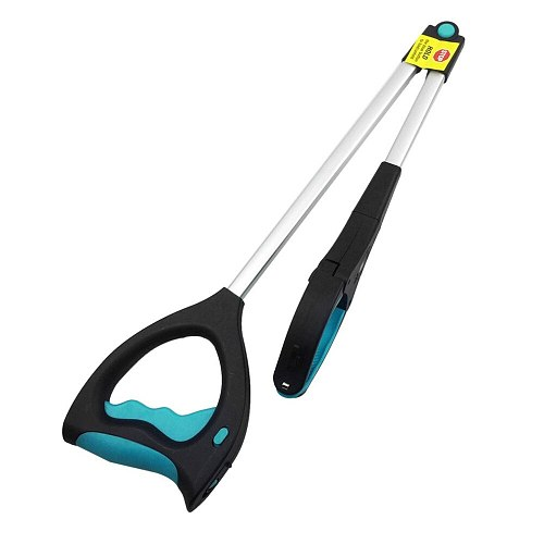 Garbage Pick Up Tool with LED Metal Garbage Clip Reacher Sanitation Device Folding Rubbish Shit Pickup Clamp Claw Kitchen Garden