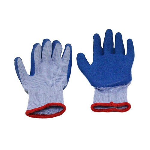 1 pair Garden Gloves Weight 100g Composicion Rubber Polyester Cotton Coated High Quality Material Free Shipping