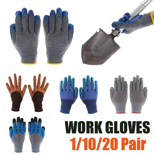 1 Pair PU Rubber Garden Gloves Wear Resistant Working Gloves Gardening Digging Planting Durable Waterproof Household Tools