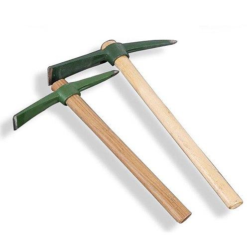 Size M head length 24cm Wooden Handle Small Pickaxe Hoe Garden hand tools Digging Steel Mattock Axes