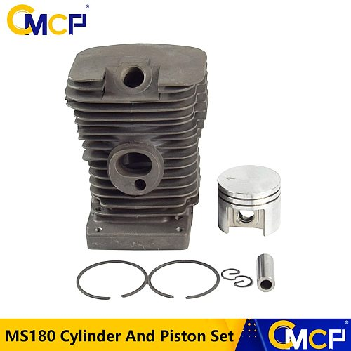 1 Set Cylinder Piston Kit For MS180 Chainsaw Cylinder And Piston Set Chainsaw Spare Parts For Gasoline/Oil