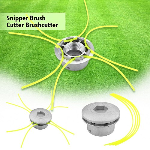 Universal Aluminum Grass Trimmer Head With 4 Lines Brush Weed Cutter Head Lawn Mower Accessories Cutting Line Head for Strimmer