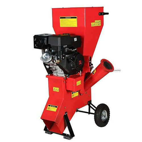 13HP Four-stroke Gas Wood Shredder Machine Professional Garden Orchard Mobile Shredding Machine Multi-function Tree Leaf Crusher
