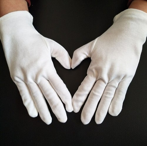 12 Pair Multifunction White Cotton Gloves for Planting Gardening Work male female Serving / Waiters/drivers Gloves