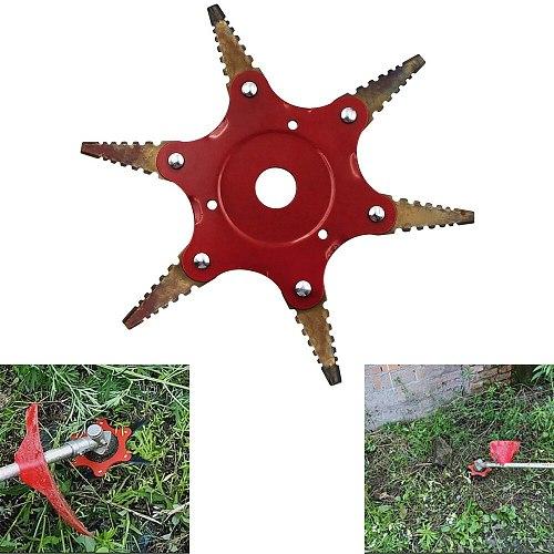 6 Blades Grass Trimmer Head Brush Cutter 65Mn Brush Cutting Head Garden Power Tool Accessories For Lawn Mower