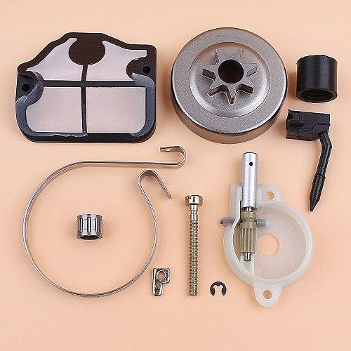 Clutch Drum Oil Pump Chain Tensioner Brake Band Kit for HUSQVARNA 142 141 137 136 36 41 Chainsaw Gas Chain Saws Spares