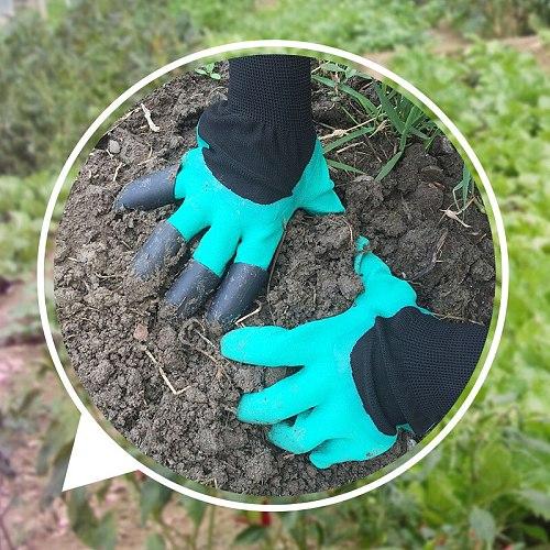 Garden Rubber Gloves 4/8 Hand Claw ABS Plastic Gardening Digging Planting Durable Waterproof Work Glove Outdoor Gadgets 2 Style
