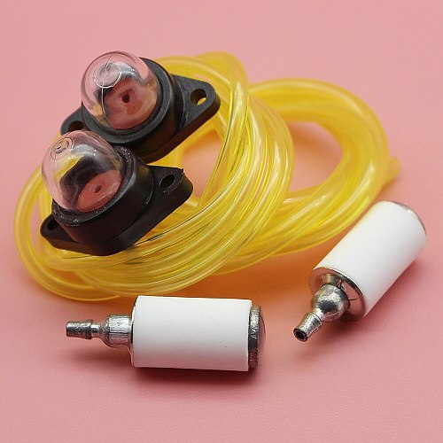 2 Feet Fuel Line Hose Fuel Filter Snap in Primer Bulb Kit For Poulan Craftsman Trimmer Brush Cutter Chainsaw Parts
