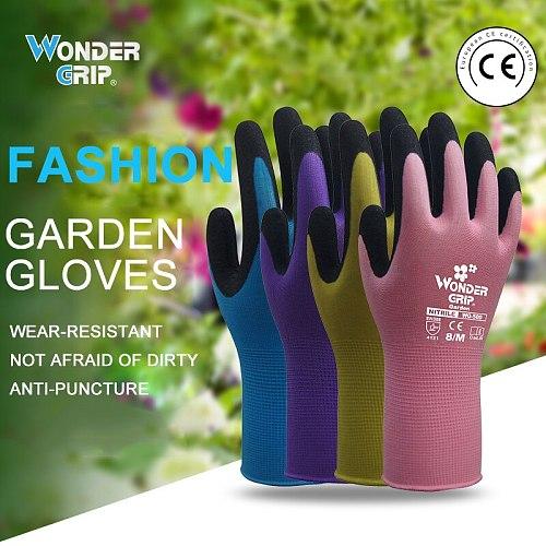 1 Pair Garden Gloves Nylon Garden Genie Rubber Gloves Quick Easy to Dig and Plant Garden Glove