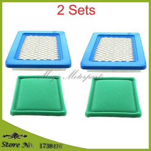 2 Sets Air Filter & Pre-Filter For Briggs & Stratton 399959 491588S 494245 5043 5043D 5043K JOHN DEERE AM116236 TORO 119-1909