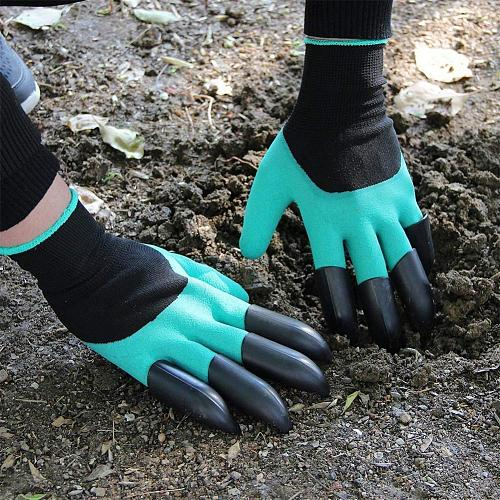 MeterMall 1 Pair Garden Gloves with Claws for Digging Weeding Seeding 15*10*5CM