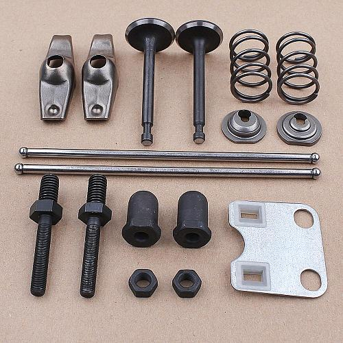 Valve Rocker Arm Push Rod Guide Plate Set for Honda GX160 GX200 5.5HP 6.5HP 168F Generator Water Pump Trimmer Brush Cutter