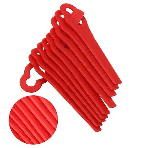 100pcs Swing Plastic Blade Pendants For Cordless Grass   Trimmer Garden Timmer Easy Strimmer