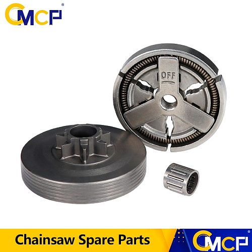 CMCP Clutch Drum+Clutch Cover+Needle Bearing Kit For Chainsaw 4500 5200 5800 45cc 52cc 58cc Chainsaw Spare Parts