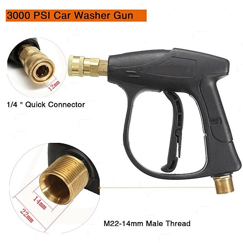Pressure Car Washer With 5pcs Soap Spray Nozzles 14mm M22 Socket 1/4  Quick Release Snow Foam Gun Pump Cannon Foamer Lance Jet