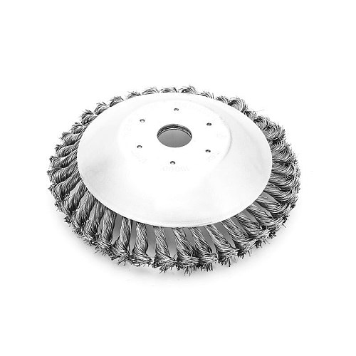 6 Inch Grass Trimmer Head Steel Wire Trimming Head Rusting Brush Cutter Mower Wire Weeding Head for Lawn Mower
