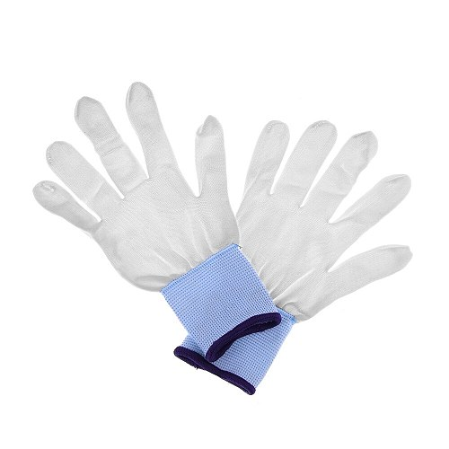 1 Pair Useful Hot Practical White Nylon Wrapping Gloves Application Tools For Car Wrap Vinyl Sticker Garden Gloves