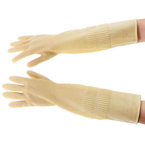 Natural Latex Gloves Garden Household Kitchen Cleaning Rubber Wear Resistant Working Gloves Home Garden Planting Elements
