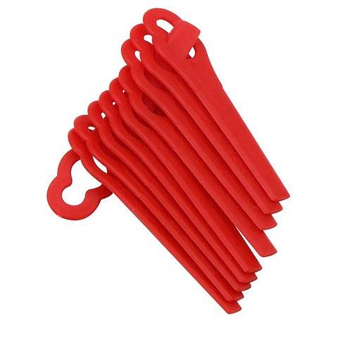 100pcs Swing Plastic Blade Pendants Cutter For Grass Trimmer Brushcutter  Mower Garden Tool Accessories