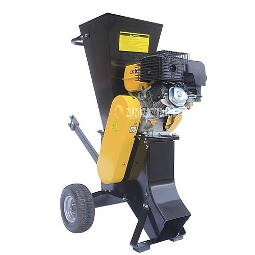 New CHA-702 High-powered Movable Tree Branch Crusher Grinder,3  (76mm) Garden Wood Shredders 13HP/3600rpm ,With Gasoline Engine