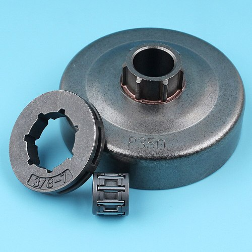 3/8 -7T Clutch Drum Sprocket Rim Needle Cage Bearing Kit For Partner 350 351 Chainsaw NEW PARTS