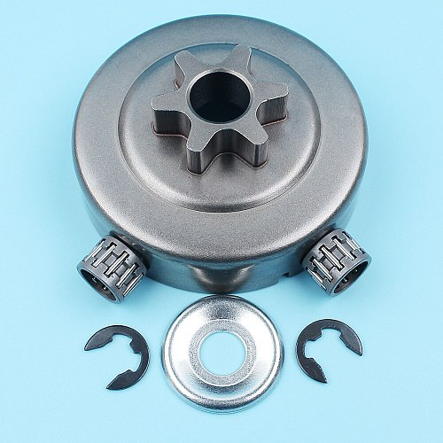 Chain Sprocket 3/8  Pitch 6T Clutch Drum Washer E-Clip Kit For STIHL 017 MS170 018 MS180 021 023 025 MS210 MS230 MS250 Chainsaw