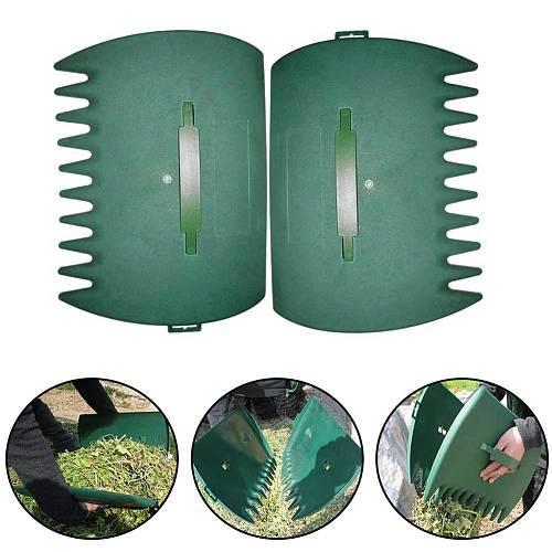 2pcs Cleaning Tool Multifunctional Rubbish Outdoor Garden Collector Lightweight Leaf Grabber Lawn Portable Debris Hand Rake Yard