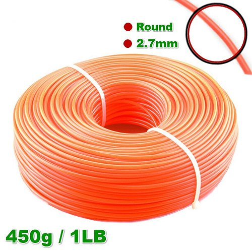 2.7mm 450g Grass Trimmer Line Strimmer Brushcutter Trimmer Nylon Rope Cord Line Long Round/Square Roll Grass Rope Line