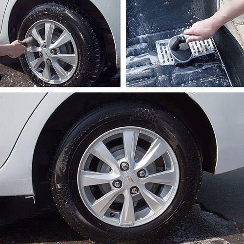2pcs/set Tire Wheel Hub Cleaning Brush Car Motorcycle Tyre Washing Dust Cleaner